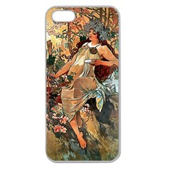 Autumn By Alfons Mucha 1896 Apple Seamless iPhone 5 Case (Clear)