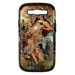 Autumn By Alfons Mucha 1896 Samsung Galaxy S III Hardshell Case (PC+Silicone)