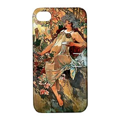 Autumn By Alfons Mucha 1896 Apple iPhone 4/4S Hardshell Case with Stand