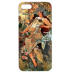 Autumn By Alfons Mucha 1896 Apple iPhone 5 Hardshell Case with Stand