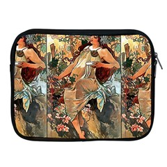 Autumn By Alfons Mucha 1896 Apple iPad 2/3/4 Zipper Case