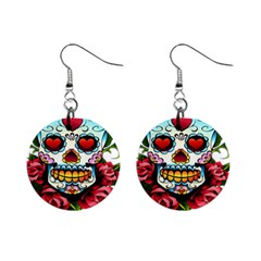 Sugar Skull Mini Button Earrings