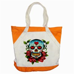 Sugar Skull Accent Tote Bag