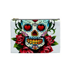Sugar Skull Cosmetic Bag (Medium)