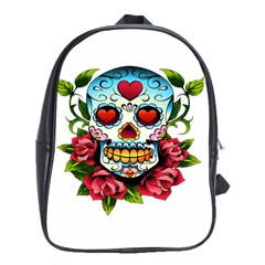 Sugar Skull School Bag (XL)