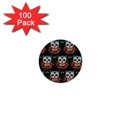 Sugar Skull 1  Mini Button (100 pack)