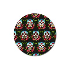 Sugar Skull Magnet 3  (Round)