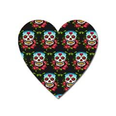 Sugar Skull Magnet (Heart)