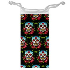 Sugar Skull Jewelry Bag