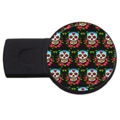 Sugar Skull 4GB USB Flash Drive (Round)