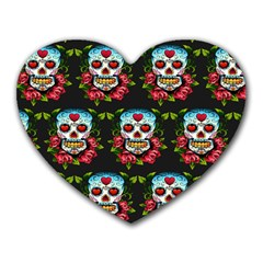 Sugar Skull Mouse Pad (Heart)