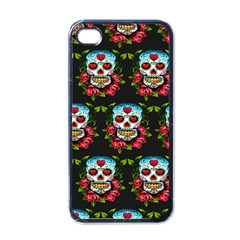 Sugar Skull Apple iPhone 4 Case (Black)