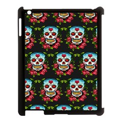 Sugar Skull Apple iPad 3/4 Case (Black)
