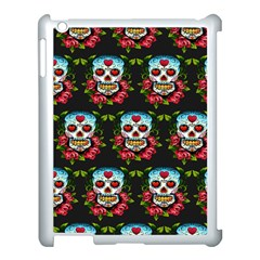 Sugar Skull Apple iPad 3/4 Case (White)