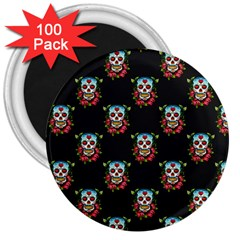 Sugar Skull 3  Button Magnet (100 pack)