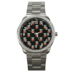 Sugar Skull Sport Metal Watch