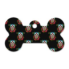 Sugar Skull Dog Tag Bone (Two Sided)