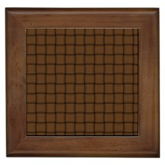 Brown Nose Weave Framed Ceramic Tile