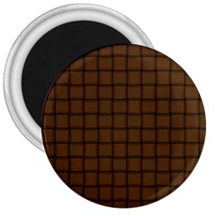 Brown Nose Weave 3  Button Magnet