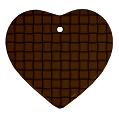 Brown Nose Weave Heart Ornament