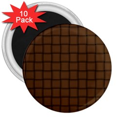Brown Nose Weave 3  Button Magnet (10 pack)