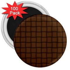 Brown Nose Weave 3  Button Magnet (100 pack)
