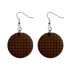 Brown Nose Weave Mini Button Earrings
