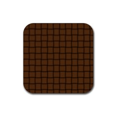 Brown Nose Weave Drink Coaster (square)