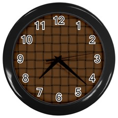 Brown Nose Weave Wall Clock (black)