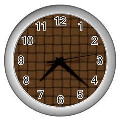 Brown Nose Weave Wall Clock (Silver)