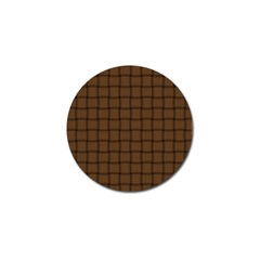 Brown Nose Weave Golf Ball Marker 10 Pack