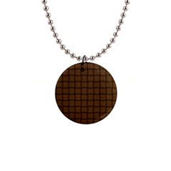Brown Nose Weave Button Necklace