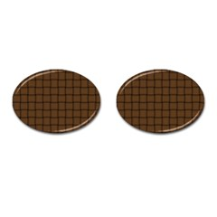 Brown Nose Weave Cufflinks (oval)