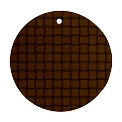 Brown Nose Weave Round Ornament (Two Sides)