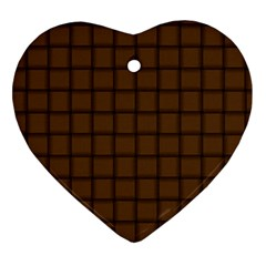 Brown Nose Weave Heart Ornament (Two Sides)
