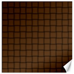 Brown Nose Weave Canvas 20  x 20  (Unframed)
