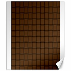 Brown Nose Weave Canvas 20  x 24  (Unframed)