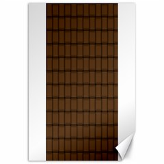 Brown Nose Weave Canvas 20  x 30  (Unframed)