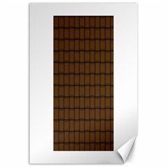Brown Nose Weave Canvas 24  X 36  (unframed)