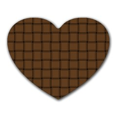 Brown Nose Weave Mouse Pad (heart)