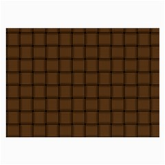 Brown Nose Weave Glasses Cloth (Large, Two Sided)