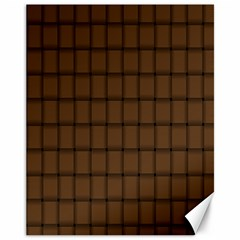 Brown Nose Weave Canvas 11  x 14  9 (Unframed)