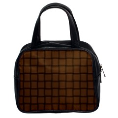 Brown Nose Weave Classic Handbag (two Sides)