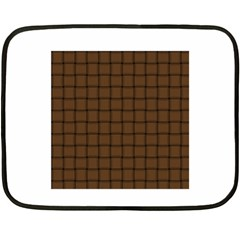 Brown Nose Weave Mini Fleece Blanket (Two-sided)