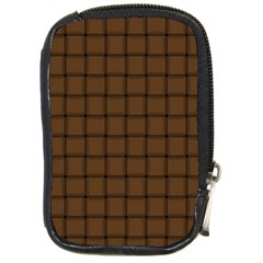 Brown Nose Weave Compact Camera Leather Case