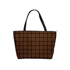 Brown Nose Weave Large Shoulder Bag