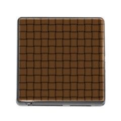 Brown Nose Weave Memory Card Reader with Storage (Square)