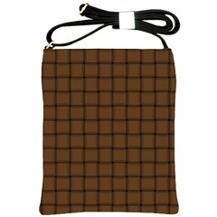 Brown Nose Weave Shoulder Sling Bag