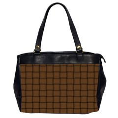Brown Nose Weave Oversize Office Handbag (Two Sides)