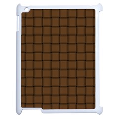 Brown Nose Weave Apple iPad 2 Case (White)